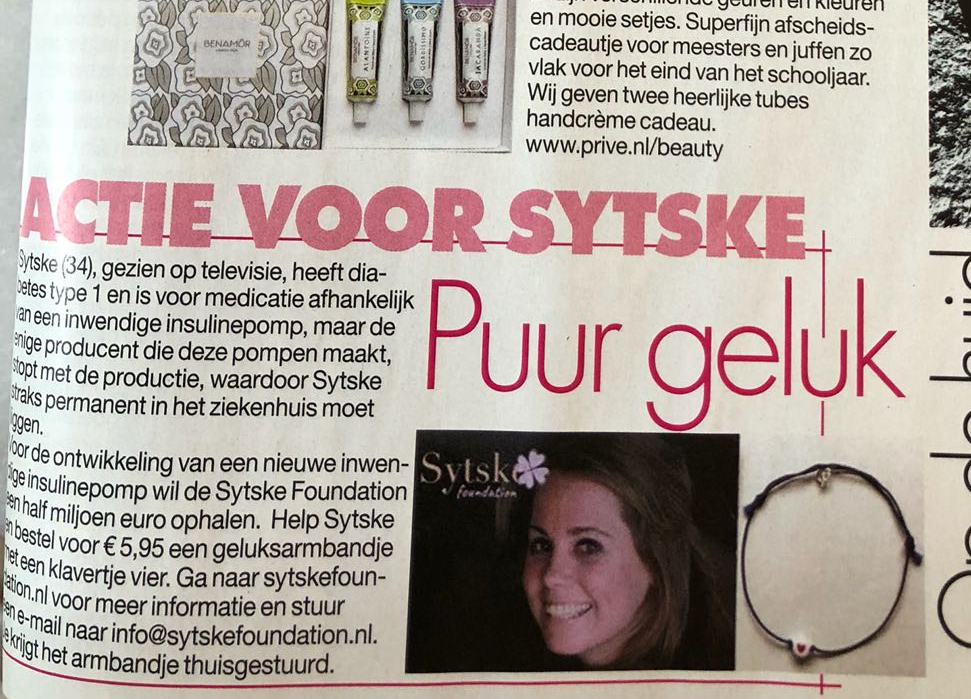 BY JOHN! Privé Bracelet with  4-leafed clover for Sytske Foundation; Proceeds € 1.600!