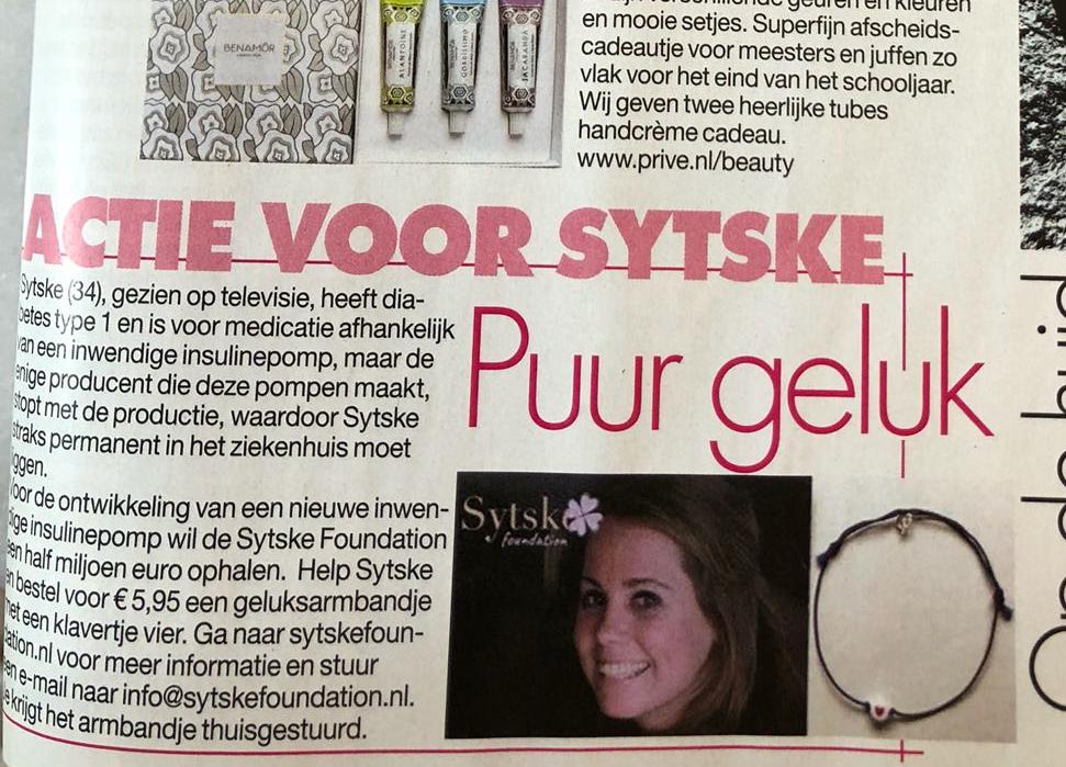 BY JOHN! Privé Bracelet with  4-leafed clover for Sytske Foundation; Proceeds € 1.600!