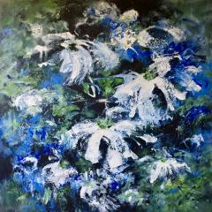 Painting 'Bloemen voor Sytske' (Flowers for Sytske) by Joke Vingerhoed